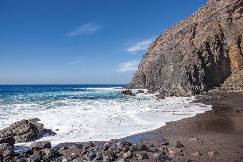 Playa del Trigo im Westen von La Gomera