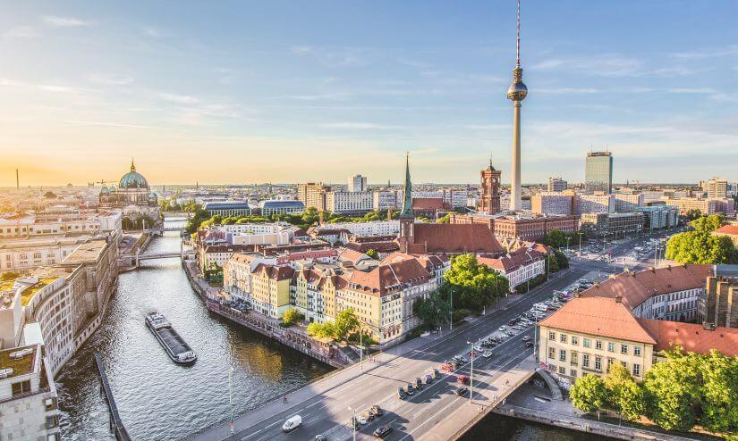 Stadtansicht auf Berlin