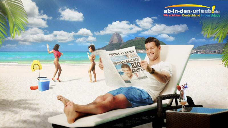 Michael Ballack Ab In Den Urlaub
