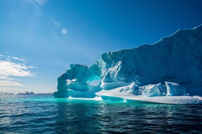 Eisscholle vor Grönland