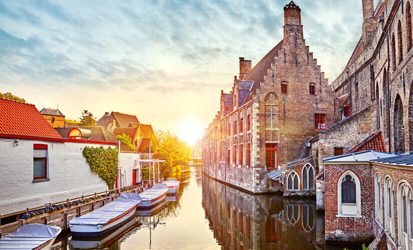 Ein Bild von einem Kanal in Brügge