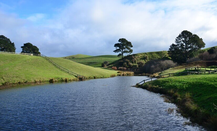 Das Dorf Matamata auf Neuseeland