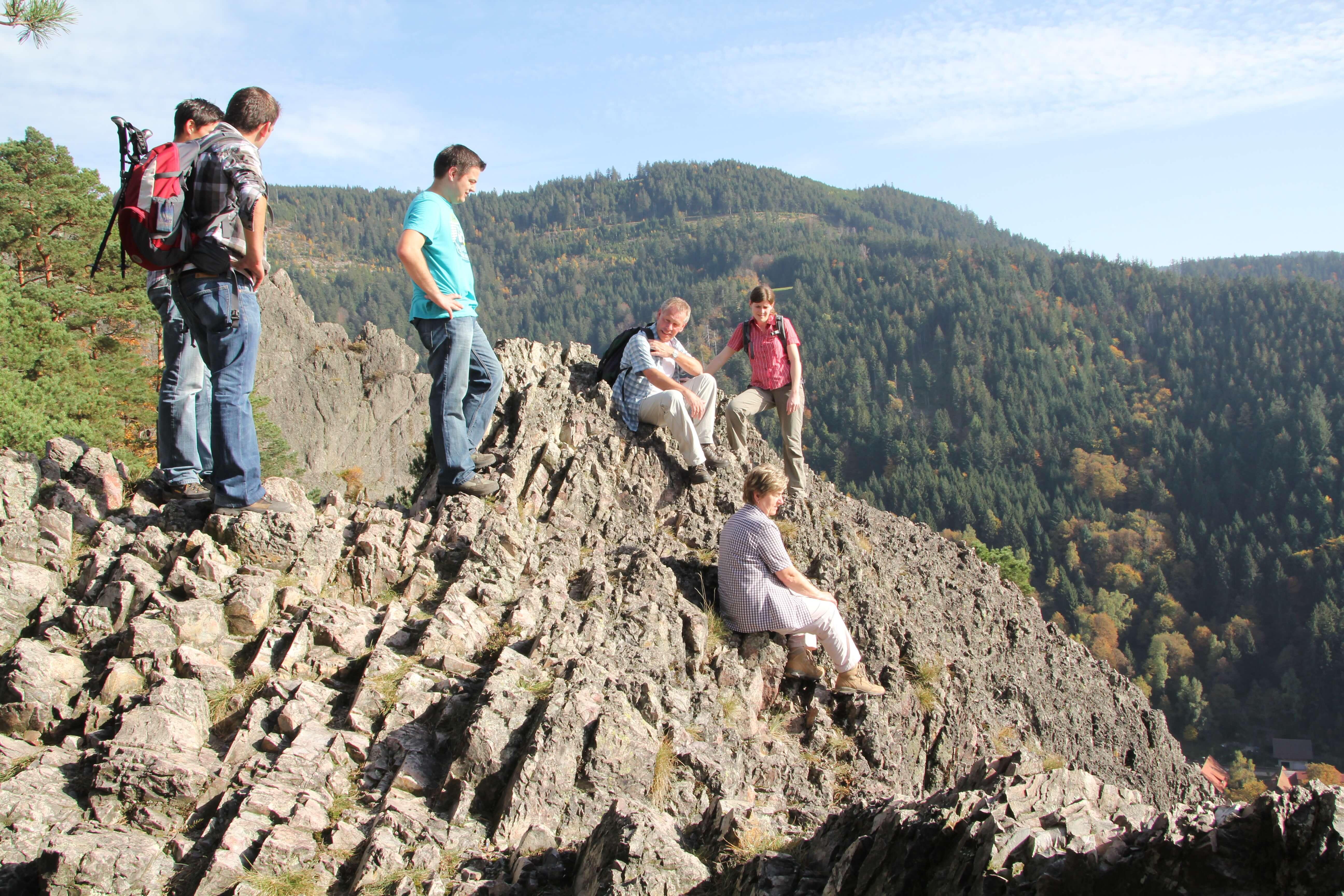 Karlsruher Grat, Berg, Pause, Wanderer