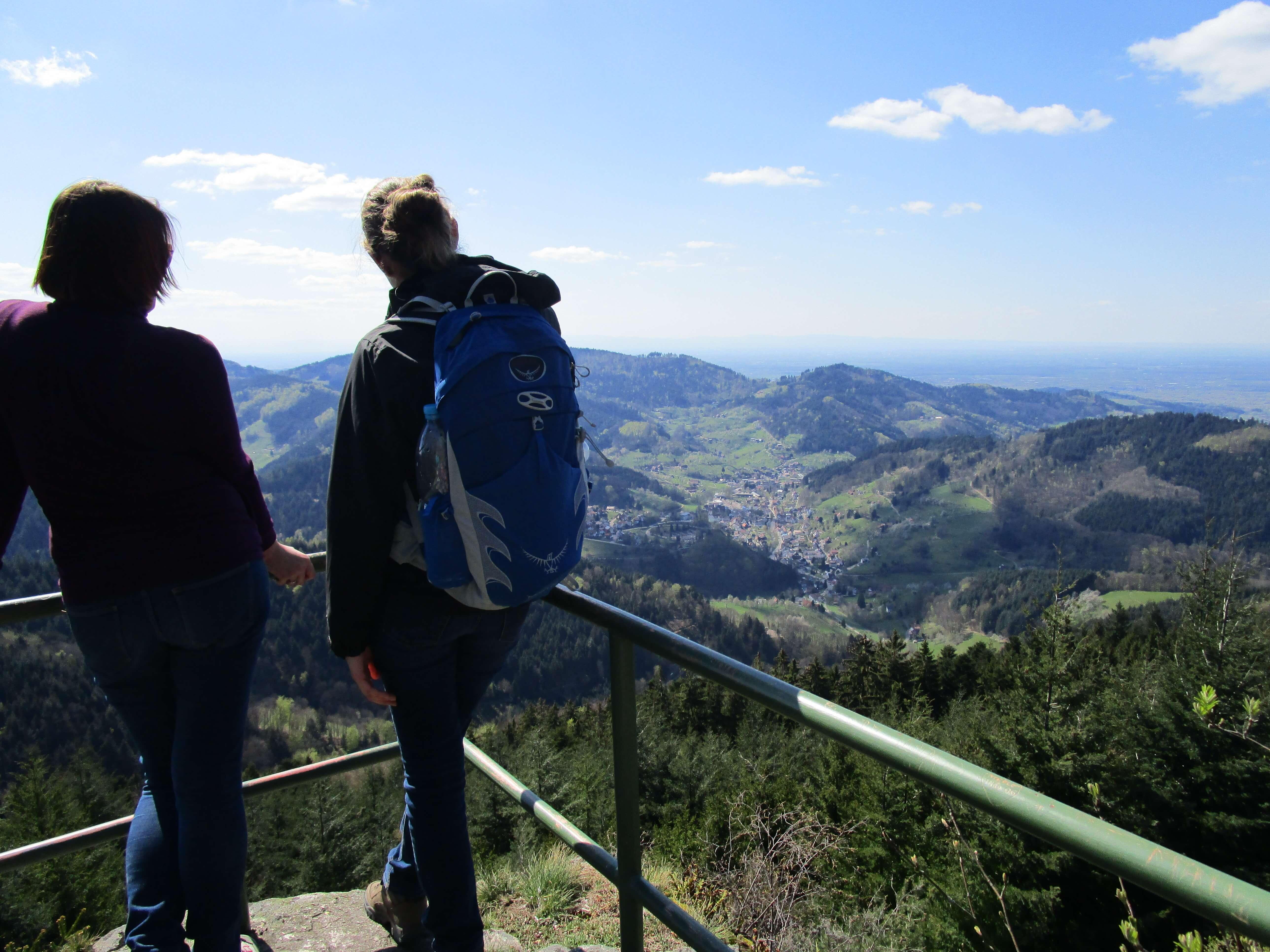Ausblick, Landschaft, Berge, Tal, Wanderer
