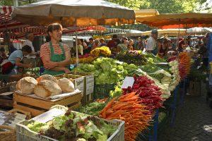 Wochenmarkt inn Lörrach