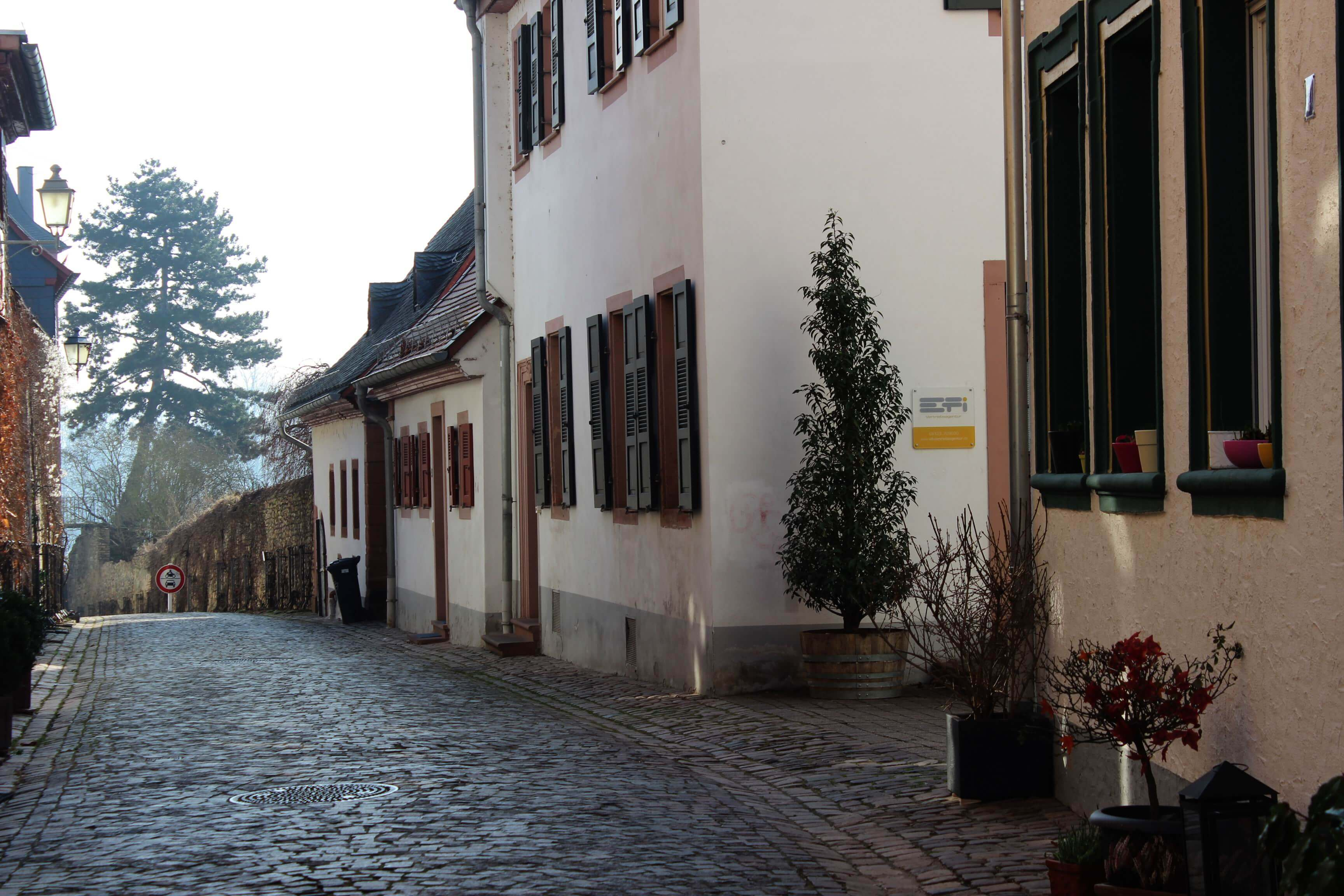 Altstadt von Eltville, Kopfsteinpflaster, Häusergasse, Straße