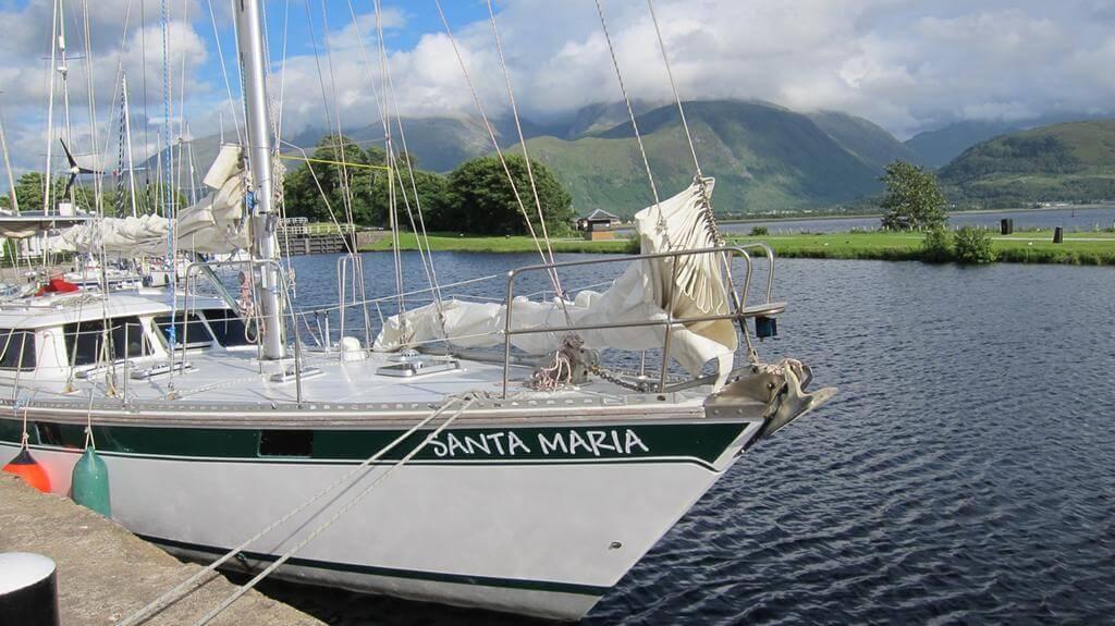 Segelschiff, Segelboot, Wasser, Berge, Meer
