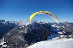 Paraglider vor Start