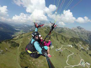 Selfie beim Paragliding