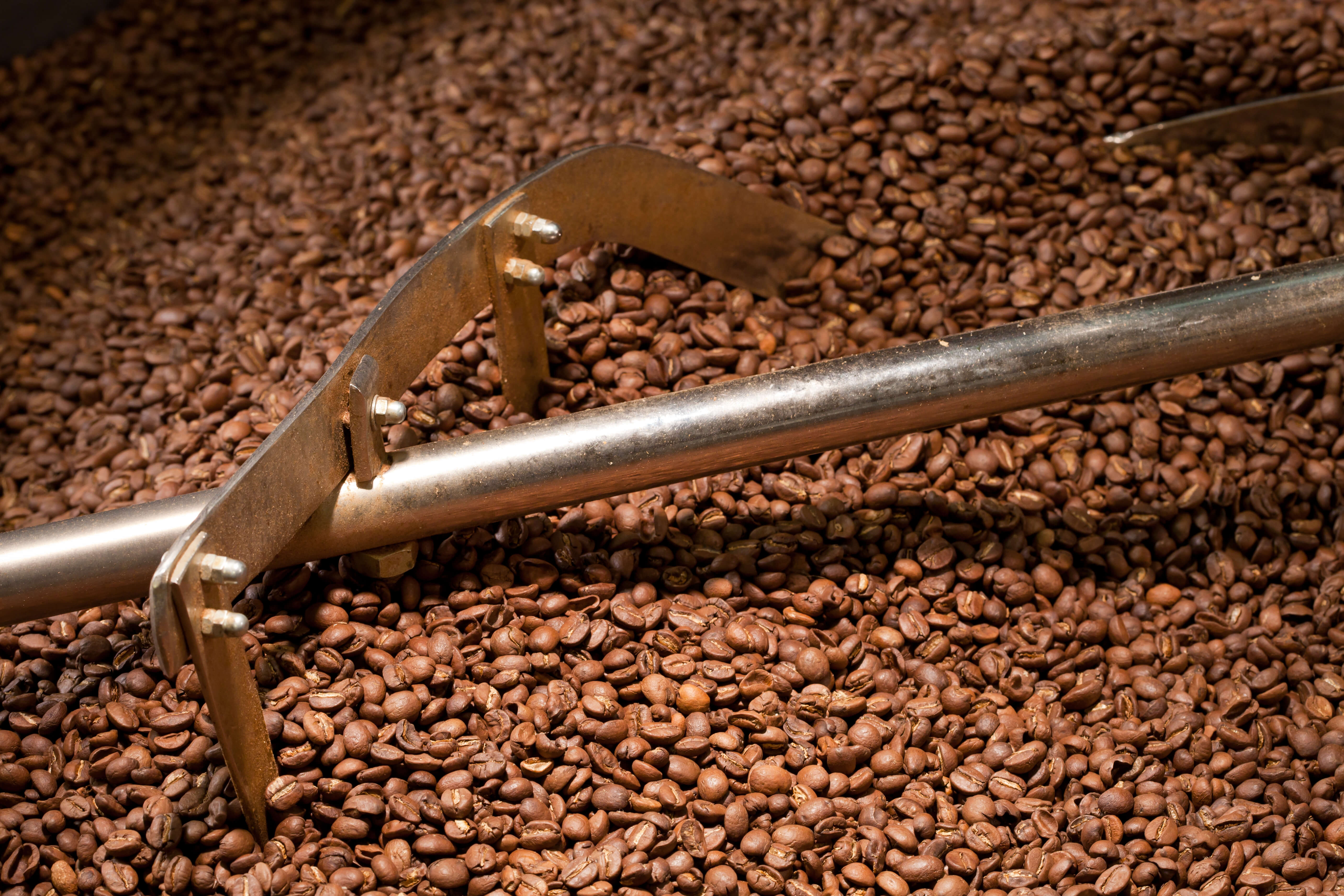 Kaffeeröster, Kaffeebohnen, Mahlwerk