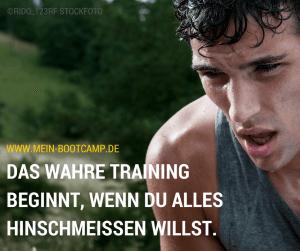 Flyer Bootcamp, Mann schwitzt nach dem workout training ©bootcamp köln