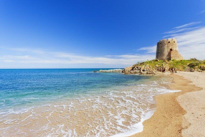 Strand von Brosa auf Sardinien