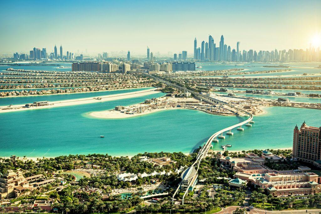 Die Palmeninsel Jumeirah in Dubai