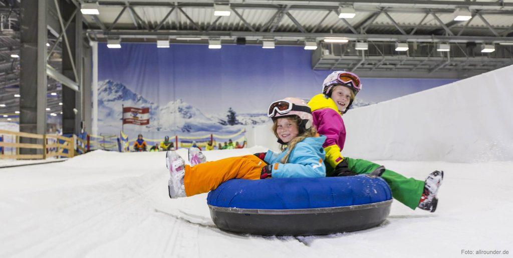 Wintersport gibt es auch in der Halle