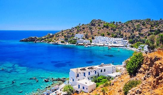 Türkises Wasser in der Bucht auf Kreta
