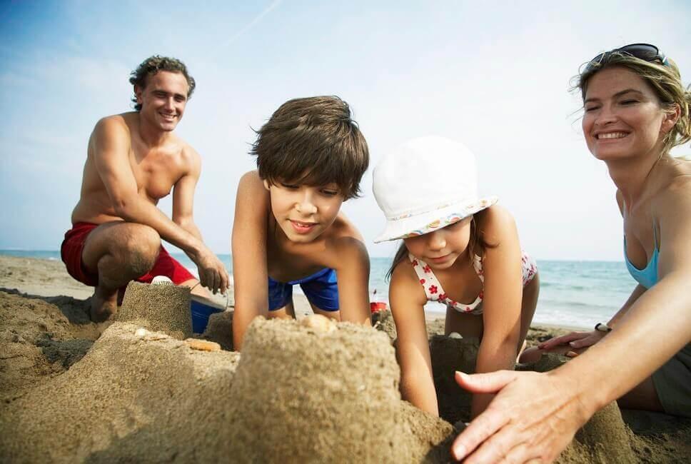 Bild Sandburgen bauen