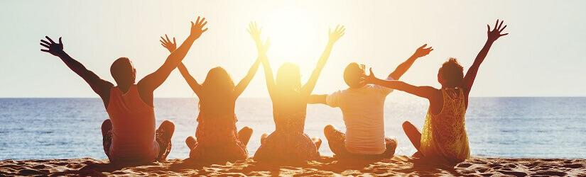 Party, Strand, Boys, Girls, Sonnenuntergang, Bulgarien, Goldstrand