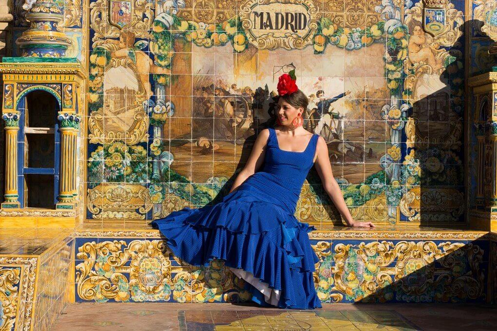 Flamencotänzerin in Madrid
