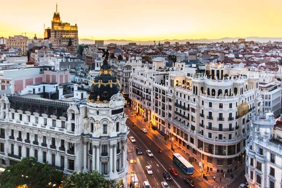 Calle Gran Via Madrid