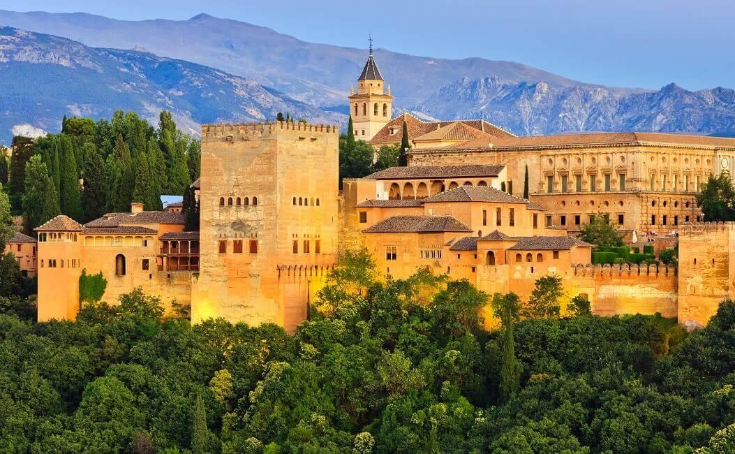 Blick auf Alhambra de Malaga