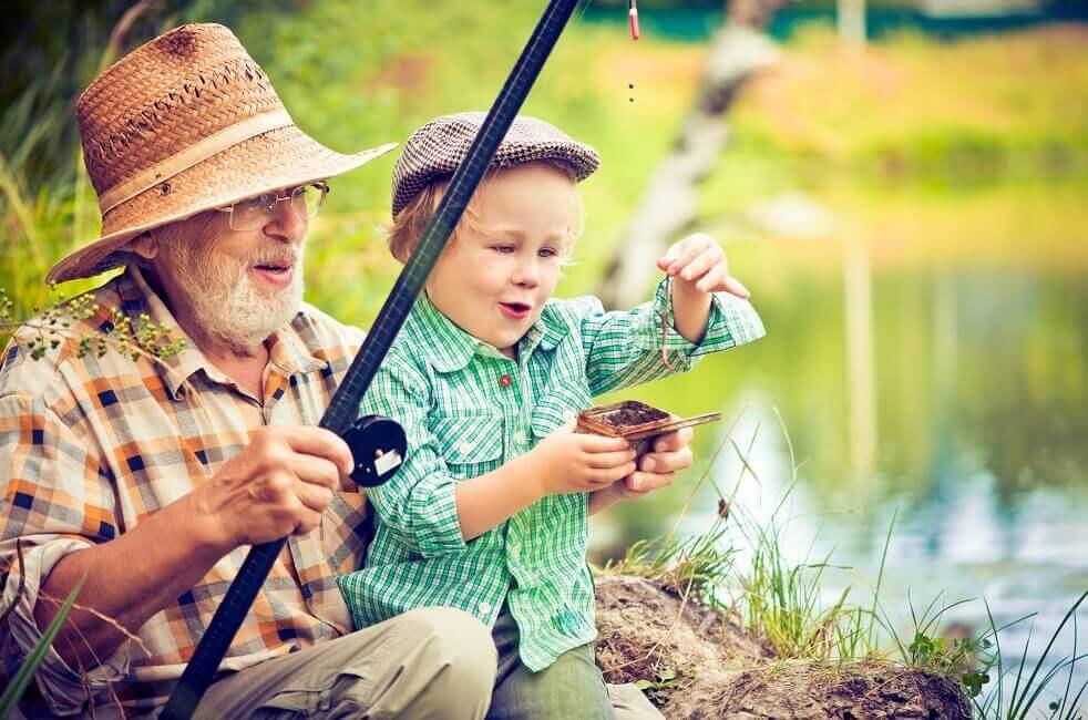 Bild Angeln mit Opa