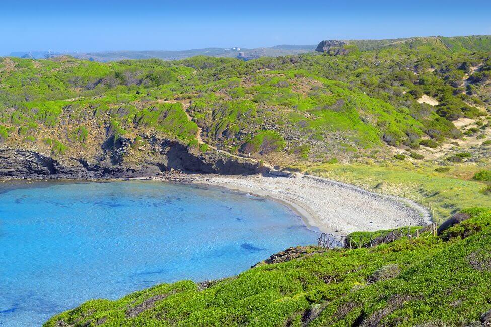Blick auf den Cala Tortuga Menorca