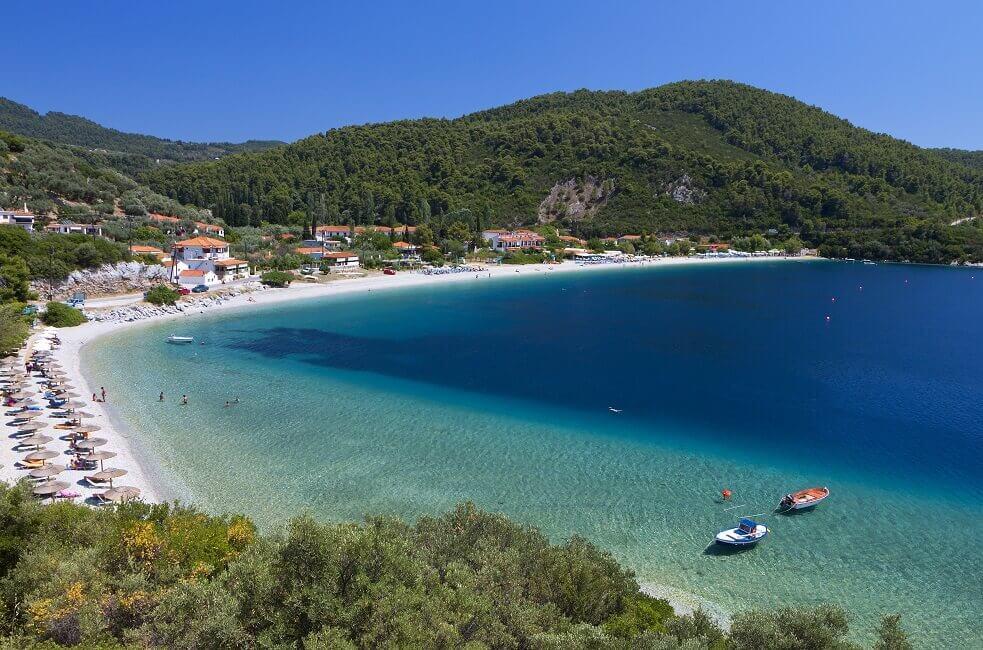 Panormos Beach auf der Insel Skopelos