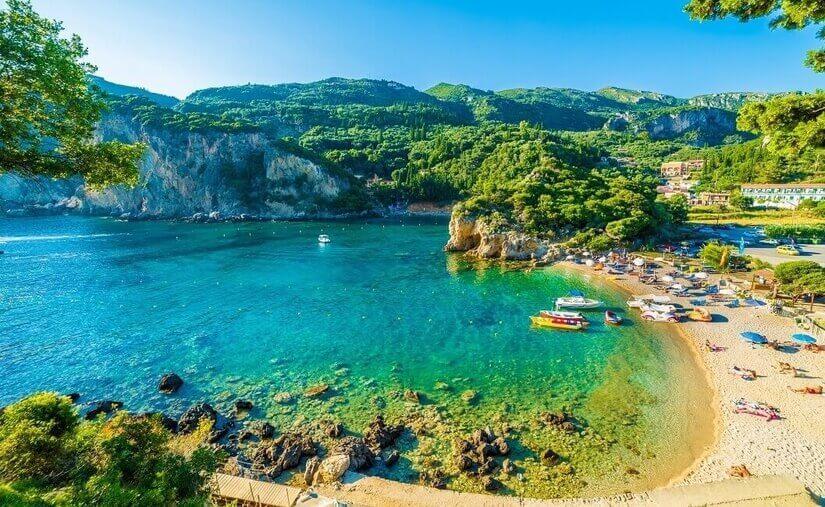 Bucht auf Korfu