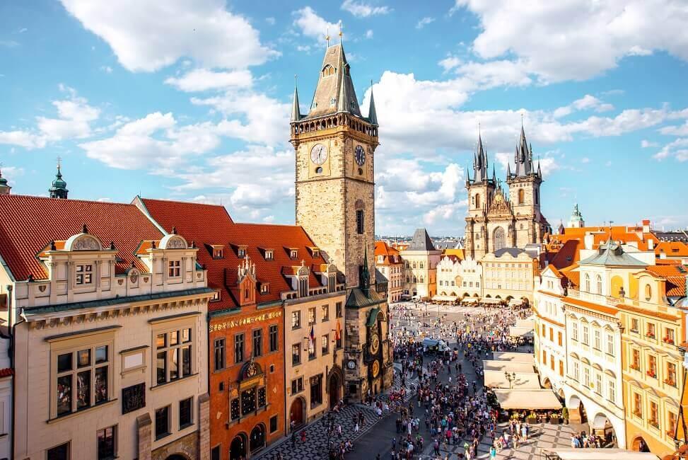 Herrliches Wetter gibts in Prag manchmal auch umsonst.