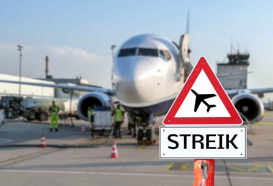 Bild Streik am Flughafen