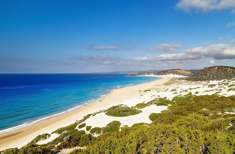 Bild Sonne tanken am Golden Beach auf Nord Zypern