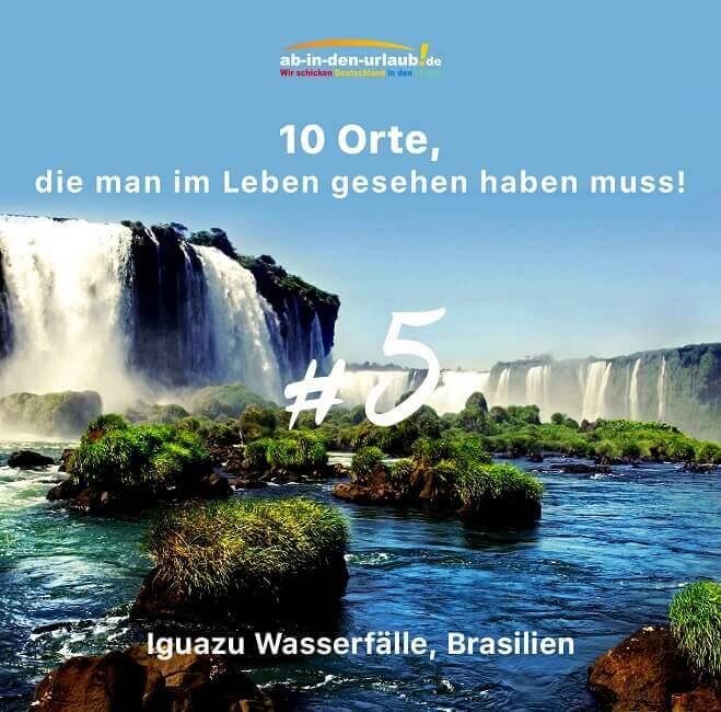 Die Iguazu Wasserfälle auf der Grenze von Argentinien und Brasilien gelten als größter Wasserfall der Welt.