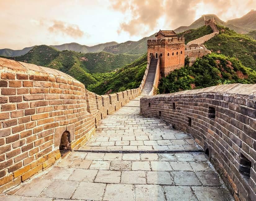 Bild Die Chinesische Mauer im Abendlicht