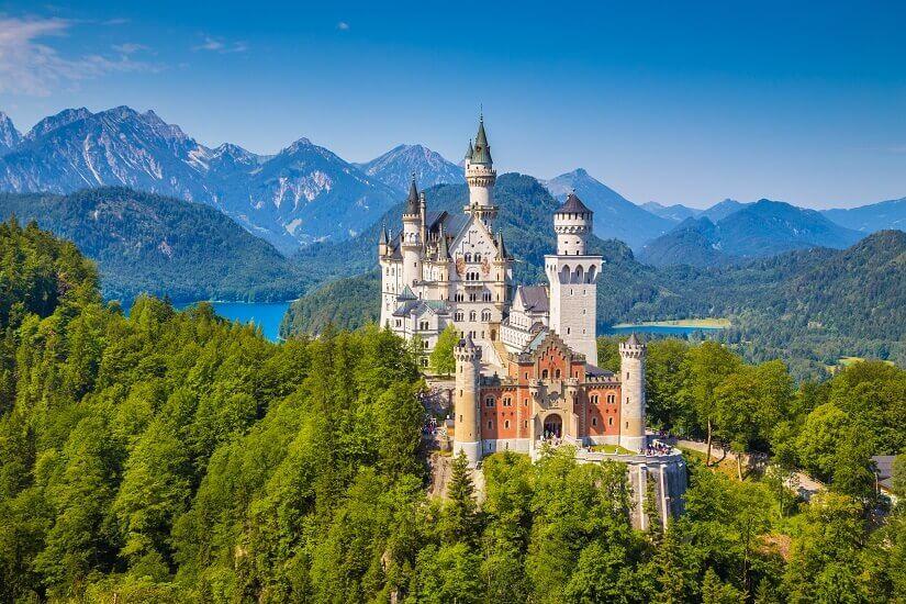 Bild Blick auf das Märchenschloss Neuschwanstein