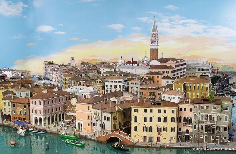 Bild Stadtansicht von Venedig im Miniatur Wunderland