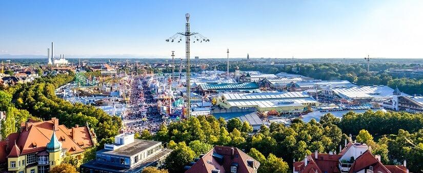 Bild München Oktoberfest von oben