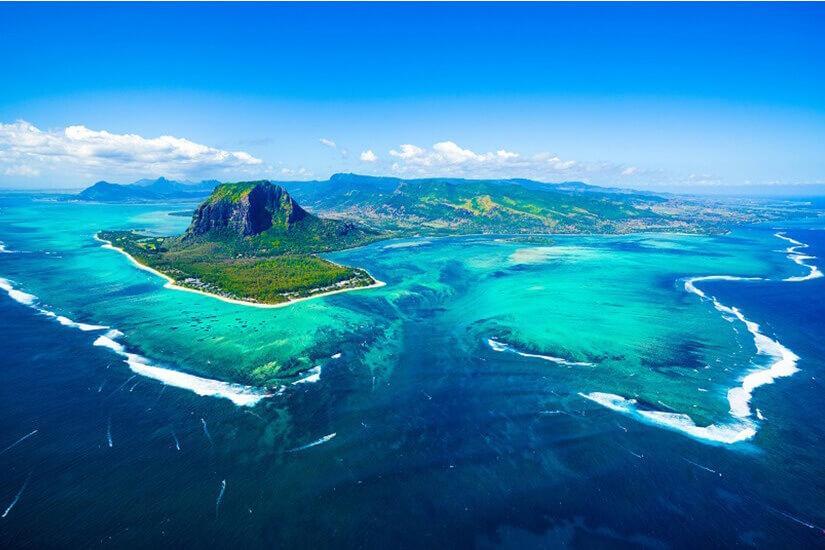 Mauritius aus der Vogelperspektive