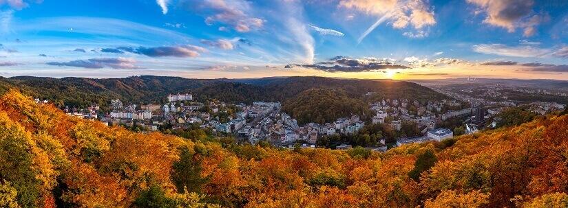 Karlovy Vary (Karlsbad) ist einer der bekanntesten Kurorte in Tschechien.