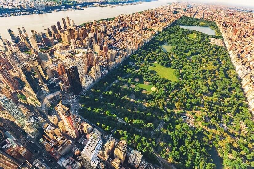 Der Central Park in Manhattan ist die grüne Lunge von New York City.