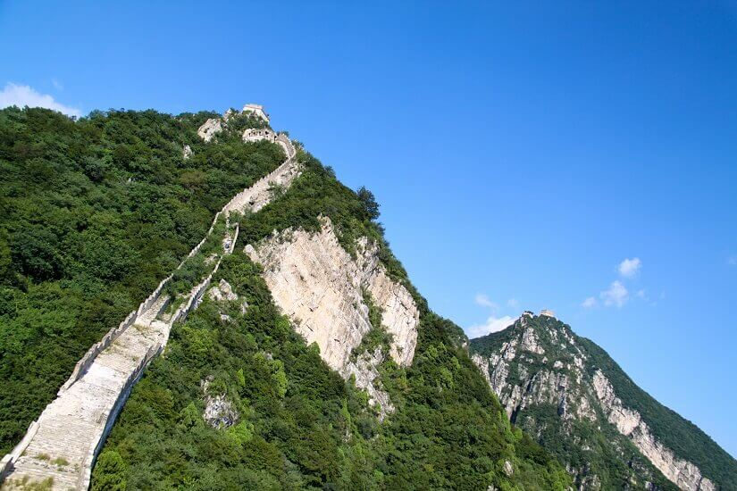 Verfallene Chinesische Mauer im Abschnitt Jiankou