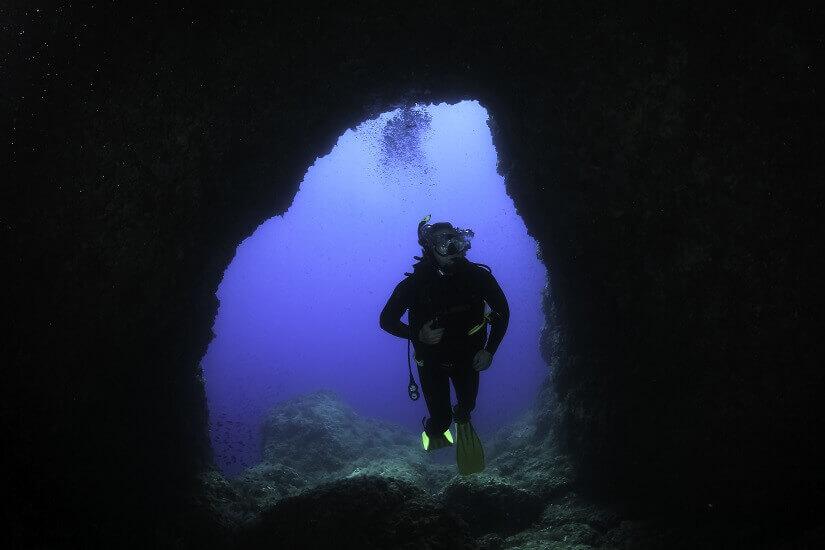 Bild Höhlentauchen vor Mallorca