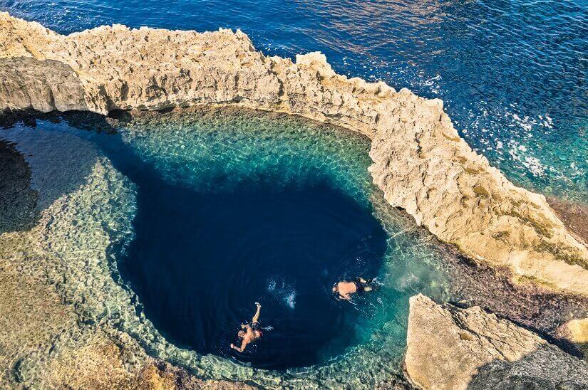 Bild Blue Hole vor der Insel Gozo bei Malta