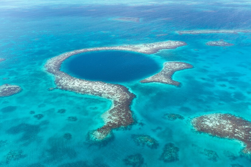 Bild Blue Hole vor Belize