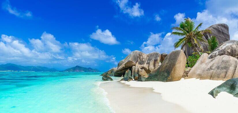 Traumstrand auf der zu den Seychellen gehörenden Insel La Digue