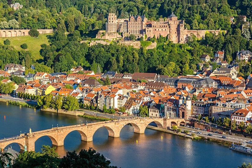 Altstadt und Schloss in Heidelberg