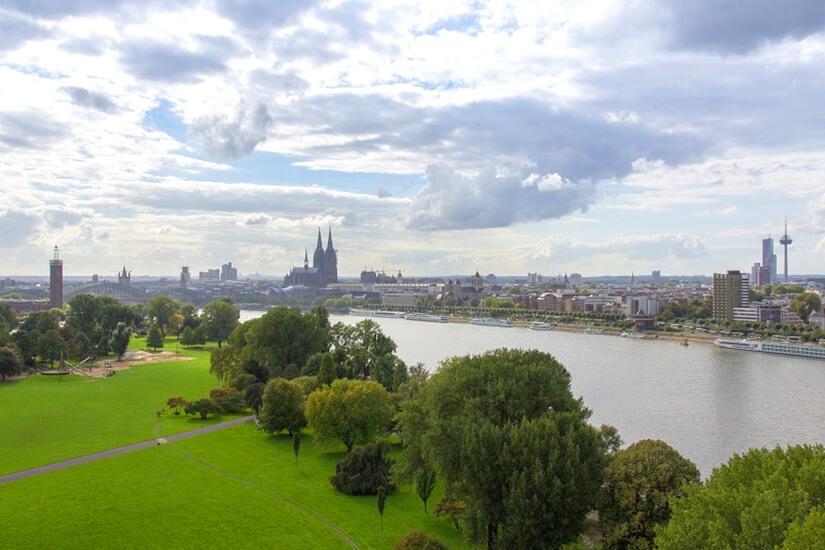 Dom und Rhein in Köln