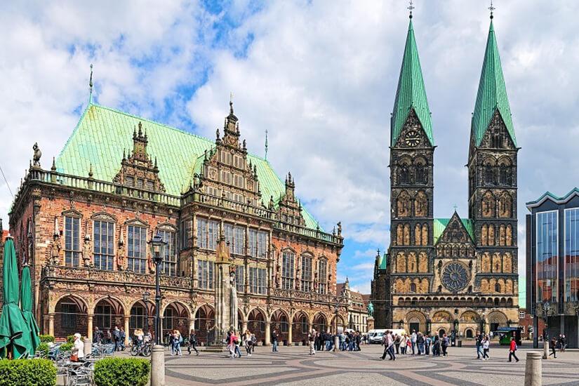 Rathaus und Dom in Bremen
