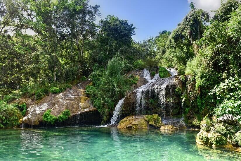 Wasserfall, Kuba, Karibik, Inland