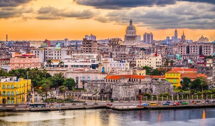 Skyline von Havanna auf Kuba