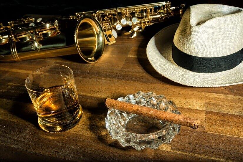 Kuba, Rum, Zigarre, Hut, Saxophone